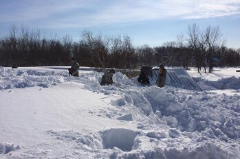 New York National Guard snowstorm response