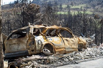 Damage from the Waldo Canyon fire near Colorado Springs, Colo.