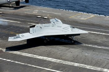 X-47B, a prototype unmanned aircraft