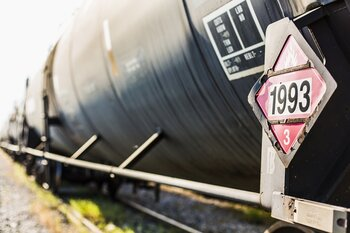 Train carrying crude oil