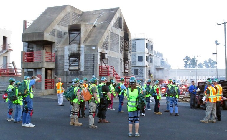 CERT member fire training