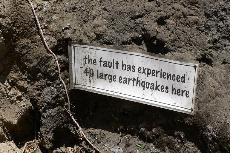 California earthquake fault