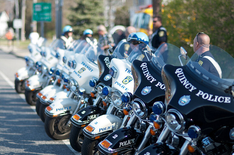 2012 Boston Marathon Police motorcycles