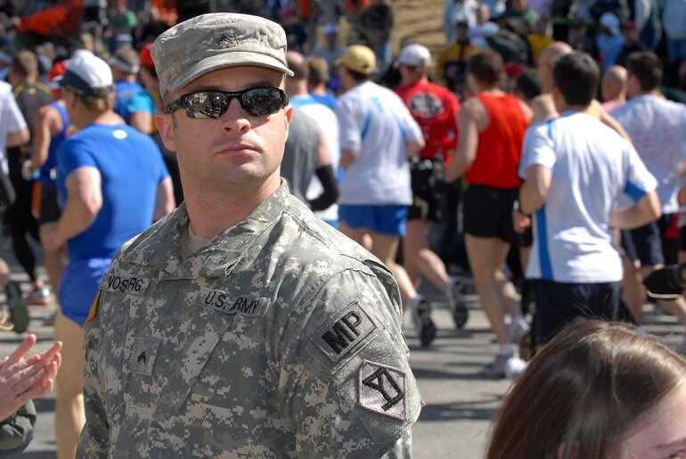 Massachusetts Army National Guard at the 2011 Boston Marathon