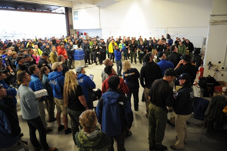 Urban Search and Rescue teams met in Boulder for a briefing