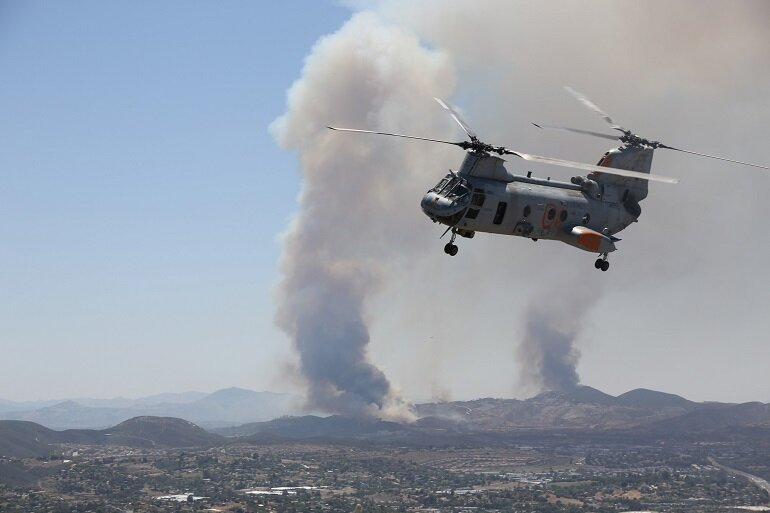 Cocos Fire in San Marcos, Calif.