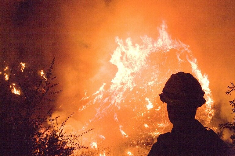 Fire danger warning issued as firefighters deal with dry conditi