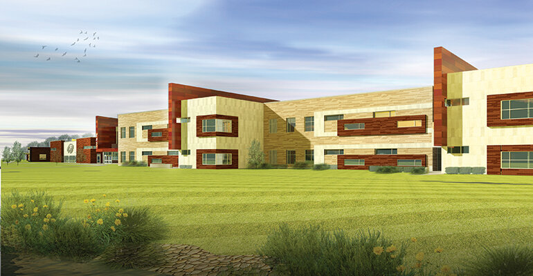 Rendering of a Joplin, Mo., school
