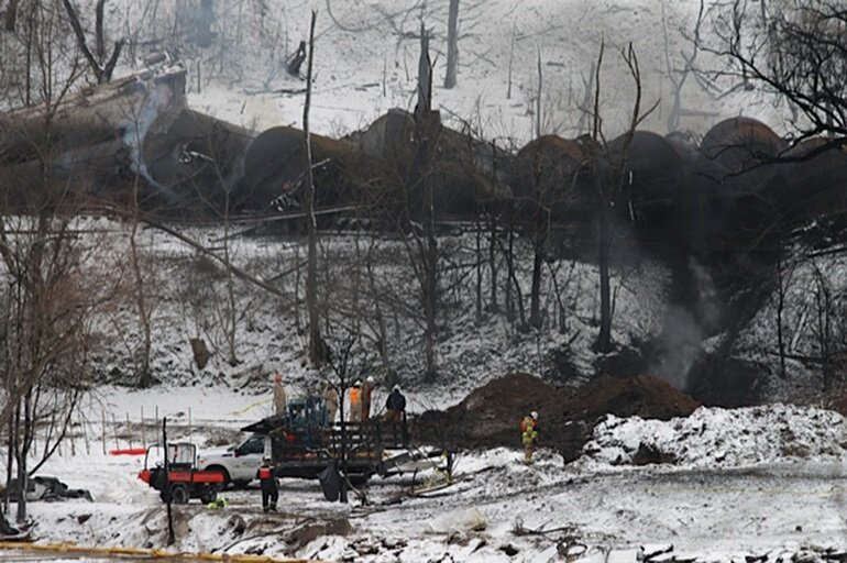CSX train from North Dakota to Yorktown, Va., derailed on Feb. 16
