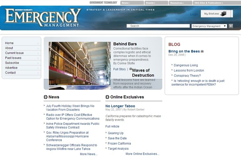 Emergency Management screenshot from 2007