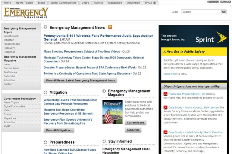 Emergency Management screenshot from 2008