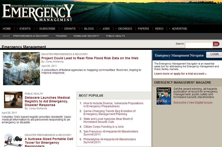Emergency Management screenshot from 2009