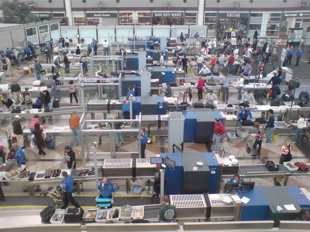 Airport security screening