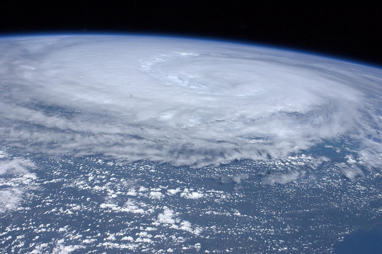 Hurricane Irene as seen from space