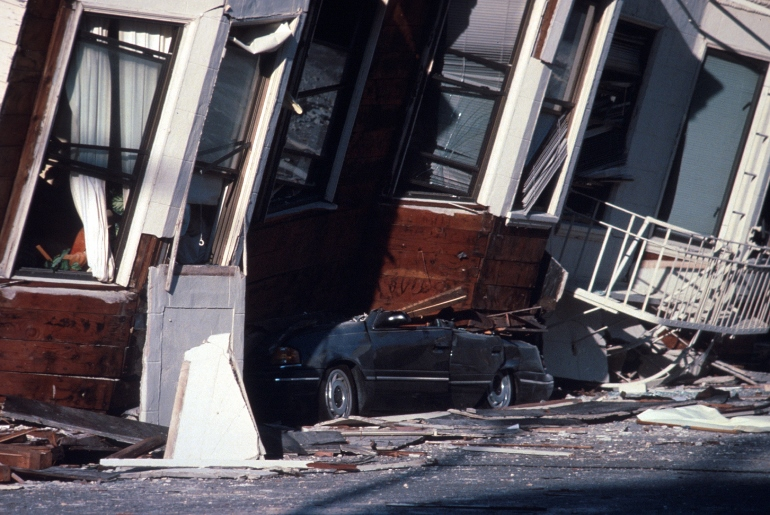 Damage in San Francisco, Calif., from the Loma Prieta earthquake